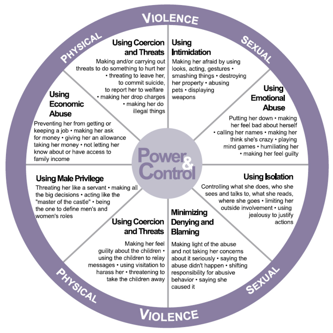 Power and Control Wheel | The Safe Place Inc